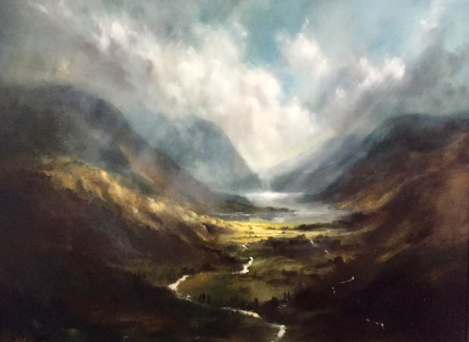 Buttermere and Crummock Water. Oil 30x40%22 205 by Martin Kinnear