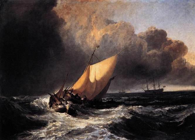 turner dutch boats in a gale