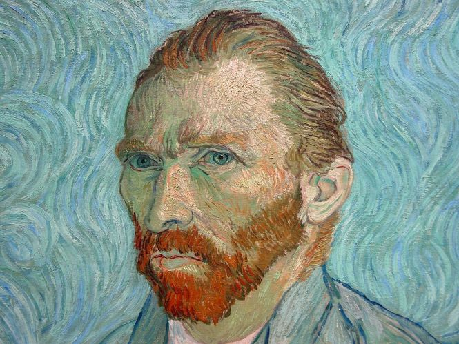 Paris Musee D'Orsay Vincent van Gogh 1889 Self Portrait 2 Close Up