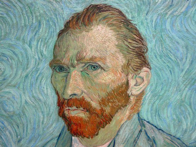 Paris Musee D'Orsay Vincent van Gogh 1889 Self Portrait 2 Close Up