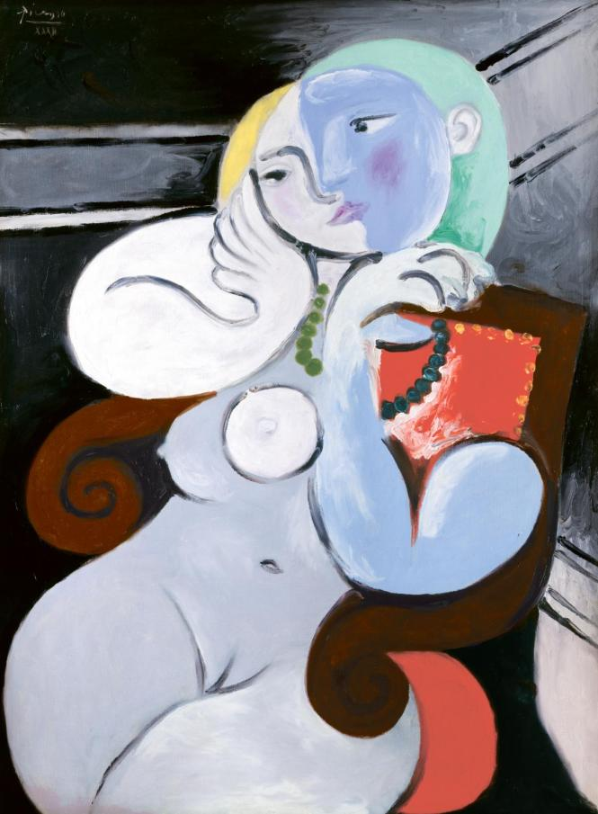 Nude Woman in a Red Armchair 1932 by Pablo Picasso 1881-1973